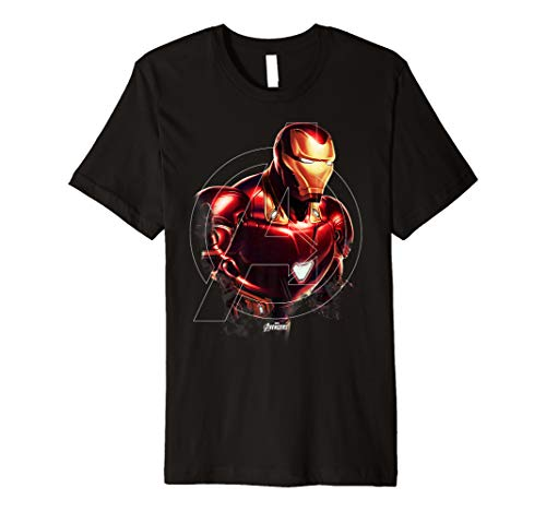 Marvel Avengers Endgame Iron Man Portrait Graphic T-Shirt