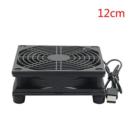 9cm / 12cm Ventilador De Refrigeración DC 5V USB Silencioso Ventilador De La Fuente De Alimentación para Las Piezas De Reparación del Router De TV Set-Top Box Radiador Refrigerador De Bricolaje