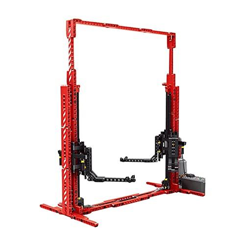 Sungvool Plataforma elevadora de coche, modelo de mesa con motores, elevador de reparación MOC, compatible con Lego Technic y otros modelos 1:8 1:10 1:12