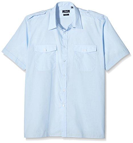 Premier Workwear Herren Short Sleeve Pilot Shirt Freizeithemd, hellblau, XXL