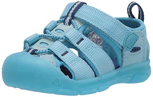 KEEN Kids Newport H2 Closed Toe Water Shoe Sandal, Blue, 4 US Unisex Toddler