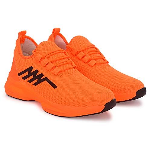 K' FOOTLANCE Men's Running Sports Shoes for Man (Orange, Numeric_7)
