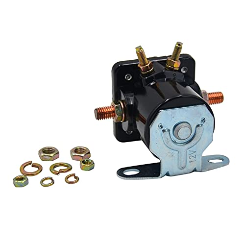 YYAN 12V Ajuste para Ford Electric Starter Solenoide Starter Switch Accesorios para automóviles (Color : Black)