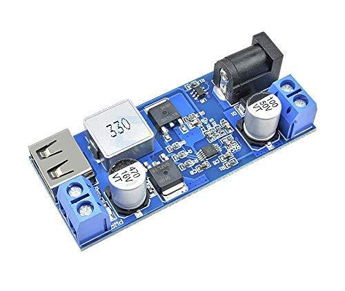 JZK® 24V / 12V à 5V 5A Power Buck Module DC-DC Ensemble de puissance à bascule avec LED