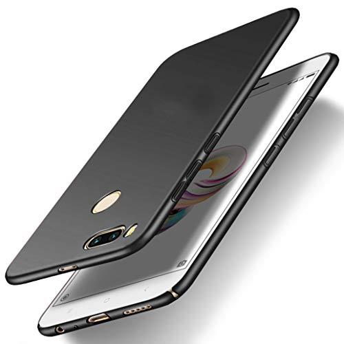 Yoowei Cover per Xiaomi Mi A1 in Plastica Rigida, [Ultra Sottile] [Pieno Bordo Protezione] PC Shell Duro Retro Custodia per Xiaomi Mi A1, Tocco Liscio - Nero