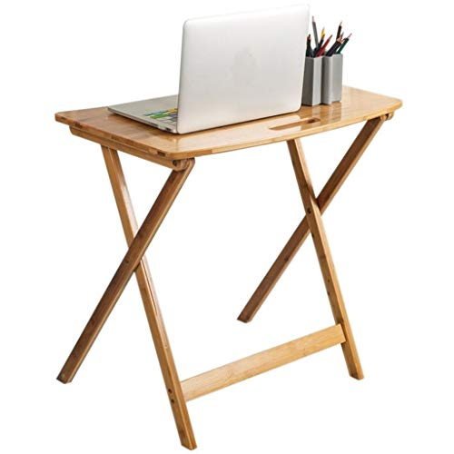 PULLEY-S Mesa Plegable de bambú Mesa Plegable portátil mesita de Noche mesita de Aprender a Escribir, de Picnic portátil S