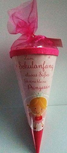 Mini Schultüte mit 75 gr. Fruchgummibärchen (pink)
