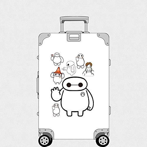 JZLMF Pegatina para equipaje grande, color blanco
