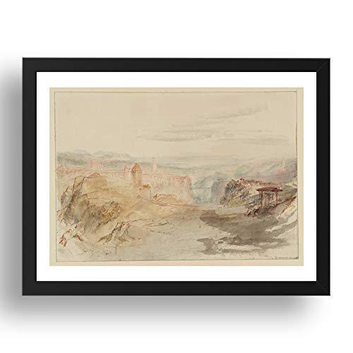 Period Prints Fribourg, 1841 01 von Joseph Mallord William Turner RA, A3 Reproduktion in 43,2 x 33 cm Rahmen