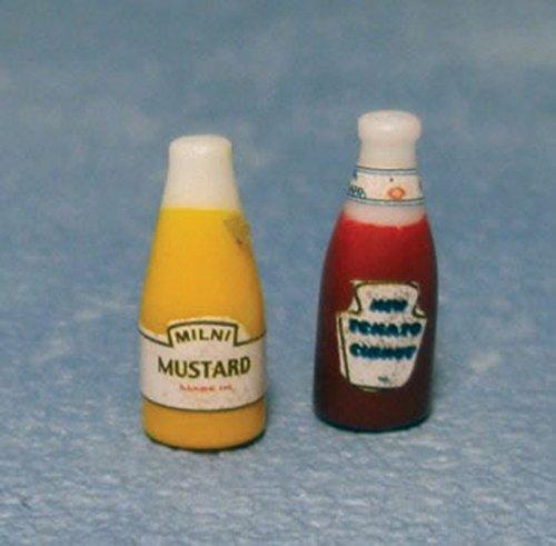 Maisons De Poupées – Accessoires – d1749 – Ketchup et Moutarde