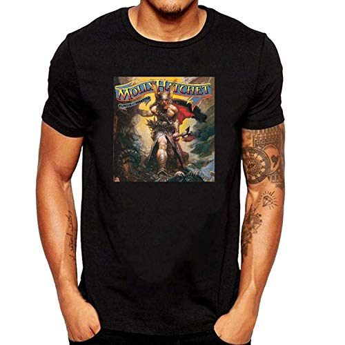 XUNLINLL Molly Hatchet Flirtin with Disaster Men's T Shirt Black