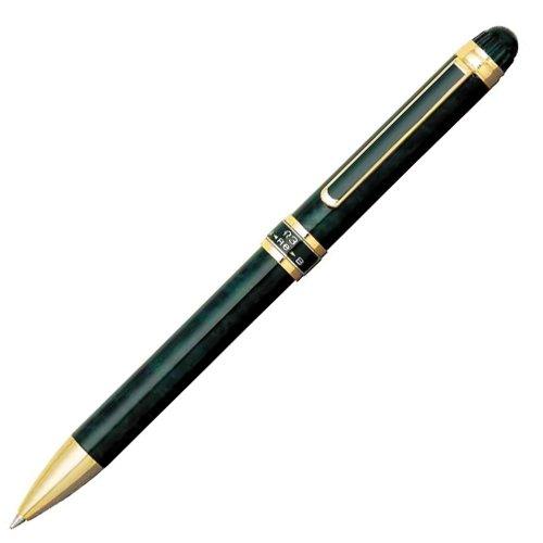 プラチナダブルアクション R3 [黒/赤+シャープペンシル] 0.7mm #41グリーンマーブル MWB-3000RN