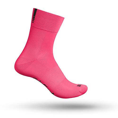 GripGrab Lightweight SL Performance - Calcetines de ciclismo para hombre y mujer, Evergreen, Lightweight SL Short Calcetín, Unisex adulto, color Rosa Hi-Vis – largo., tamaño L (44-47)