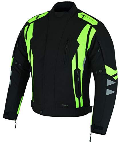 RIDEX Hochsichtbare wasserdichte Motorrad Jacke Herren Schutz Größe L Schwarz/Gelb – schwarz / gelb - 9