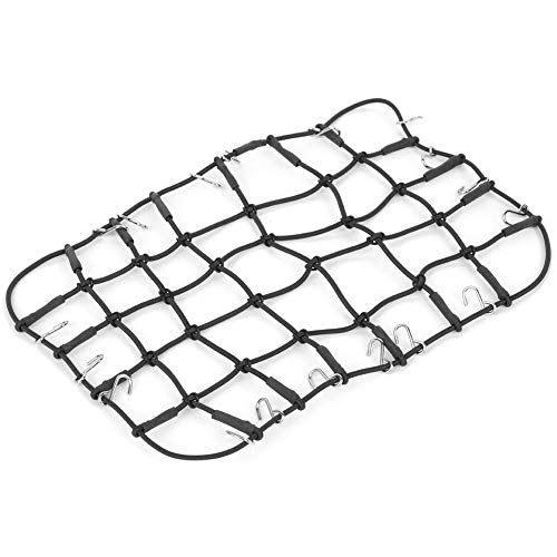 VGEBY RC Elastic Luggage Net, Stretchable Simulation RC Luggage Roof Rack Net 1/8 1/10 RC Vehicles RC Crawler Truck Car Accessory(Black)