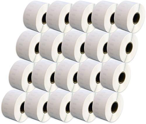 Compatible 99012 White Standard Address Labels Rolls (260 Labels per Roll) for Dymo LabelWriter & Seiko Smart Label Printers (36mm x 89mm) - TWENTY ROLLS