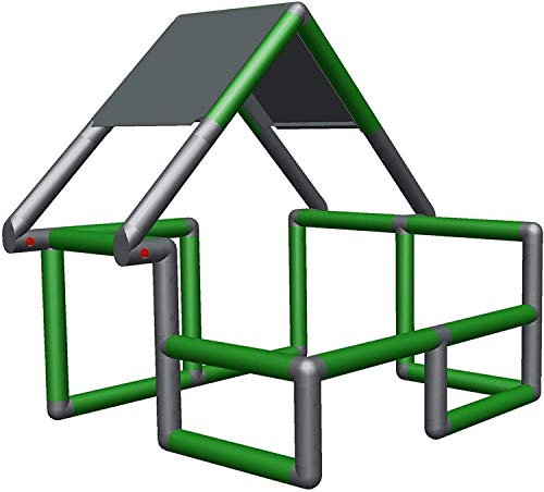 Moveandstic 875183 - Basic Baukasten Grundbaukasten grün apfelgrün titangrau rot brombeer gelb orange blau (Grün)