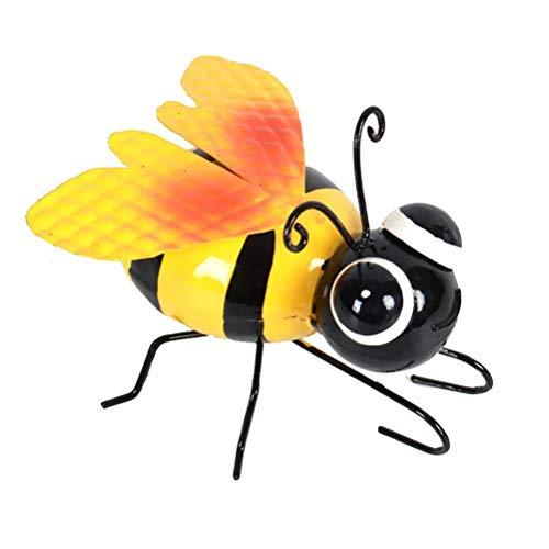 Eksesor, decoración de abejorro de Metal, Escultura de Arte de Hierro 3D, decoración de Arte de abejorro Colgante para Bar, jardín, Valla de Patio