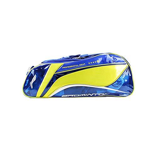 QIANZICAI Badminton Racket Bag, Tennis Racket Bag, Shoulder Racquet Bag, Sports Bag, Large Capacity, 6-Pack Racquet Bag, Waterproof and Dustproof. Outdoor Badminton Racket