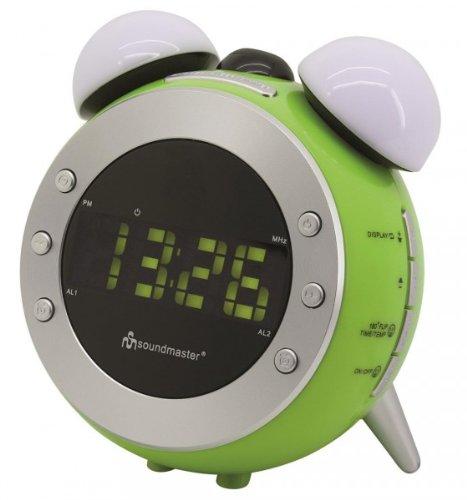 Soundmaster UR140GR UKW Uhrenradio, Projektion, dimmbares Nacht-, Aufwachlicht