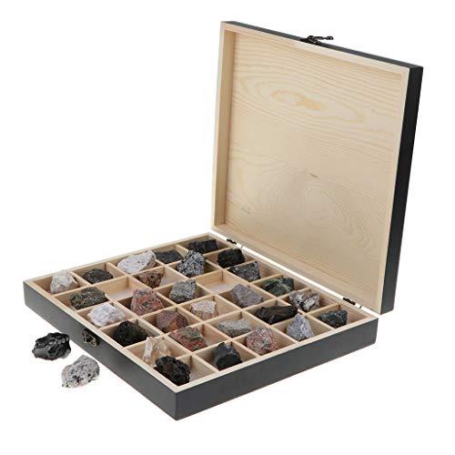 chiwanji Colección de Rocas Y Minerales Magmatic Rock Specimen Geology Science 30pcs / Set