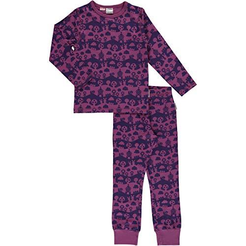 Maxomorra Mädchen Pyjama Schlafanzug Purple Landscape (110/116)