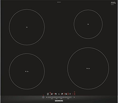 Siemens EH675FEC1E kookplaat zwart met inductiekookplaat, glas en keramiek, 2200 W, 14,5 cm