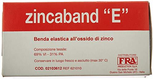 Benda all'ossido di zinco, 10 cm x 10 m, benda fredda medicata