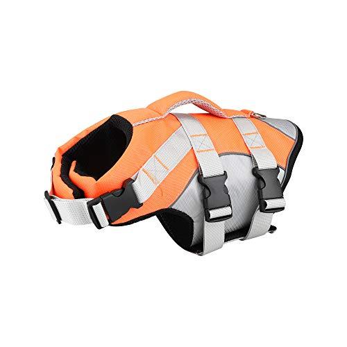 Dog Life Jacket - Tragbare Schwimmweste für Hunde, Verstellbare Rettungsweste für Rettungsschwimmer für Haustiere mit Griff für Kleine, Mittlere und Große Hunde