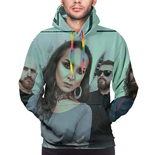 Tengyuntong Hombre Sudaderas con Capucha, Sudaderas, Men's Fashion 3D Print Long Sleeve Hoodie Sweatshirt