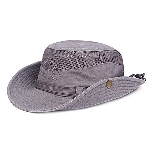 JOYOTER Unisex Adjustable Buckle Fishing Hat Soft Light Summer Cooling Sun Protection Cap Bucket for Outdoor