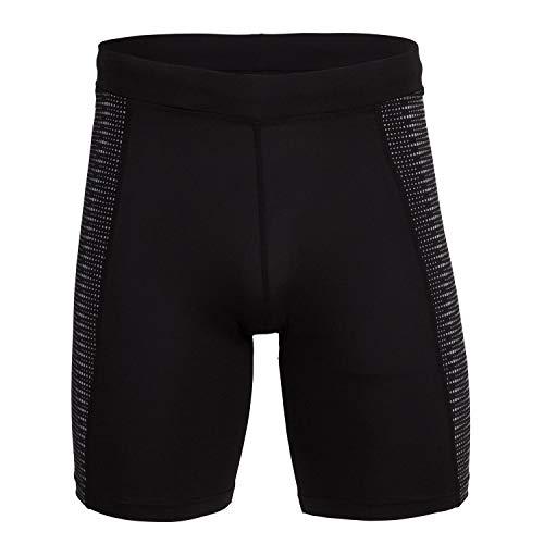 Joma Malla Corta Running Night Negro Short Caballero Deportivo, Hombre, XL