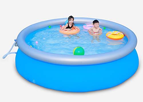 Piscina inflable, piscina para niños en el parque acuático, piscina hinchable familiar de verano para niños, adultos, fiesta de agua para niños pequeños Piscina inflable de 121 `` para patio trasero