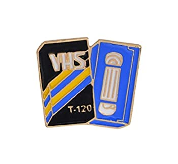 FTT Retro VHS Tape 1  Enamel Pin.Wear on Your Lapel Collar or Back Pack Groovy Gift for a Baby Boomer who Loves Movies!
