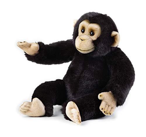 National Geographic- Schimpanse Animal en Peluche, 9770713, Noir