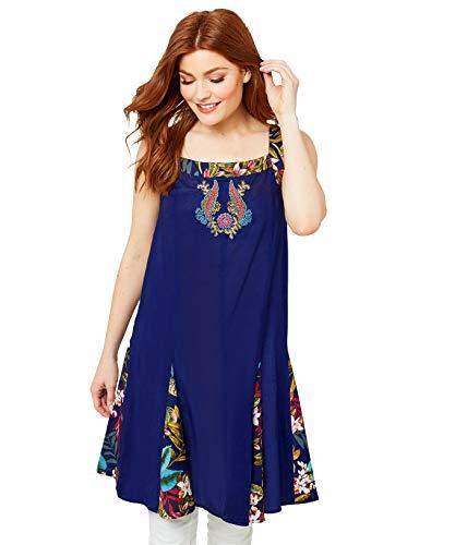 Joe Browns Vrouwen Tuniek Shirt Tropical Floral Print Sleeveless Tunic