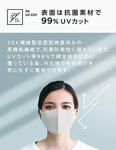 [Amazon限定ブランド]日本製夏用マスク冷感ひんやりしっとり抗菌タイプ洗える1枚入り接触冷感ふつうUVカット男女兼用繰り返し使える[HYPERGUARD](Mサイズ,オフホワイト)