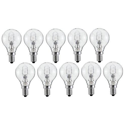10 x Halogen Glühbirne G45 E14 28W=34W dimmbar warmweiss | Luminizer 3085