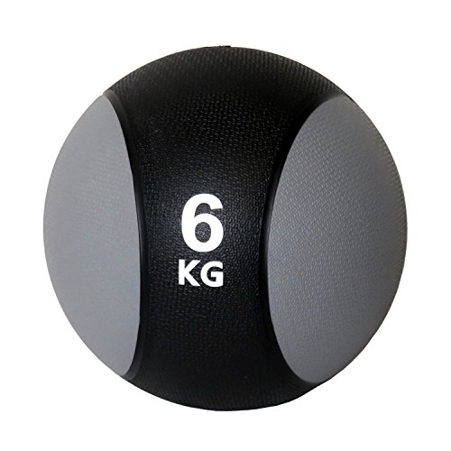 Unibest Medizinball Gummimedizinball Fitnessball Gymnastikball Gewicht 1kg-6kg - grau