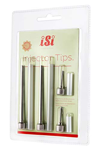 iSi Injector Tips for iSi Gourmet Whippers, Set of 4, Stainless Steel