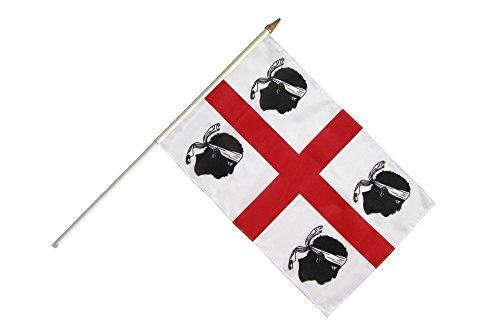 Flaggenfritze® Stockflagge Italien Sardinien - 30 x 45 cm