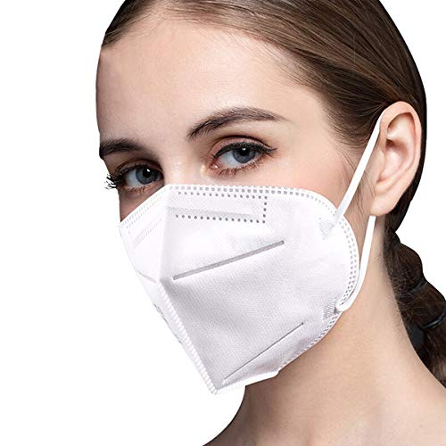 Face Mask, 20 Pcs Breathable Dust Safety Masks, 5-Layer Disposable Face Masks with Nose Clip and Ear Loops, Protective Mask for Home School and Outdoor