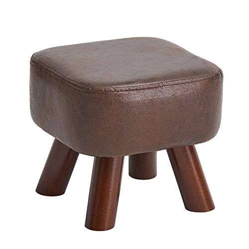 IBUYKE10.33''Solid wood creative shoes changing stool tea table low stool sofa stool small stool household square stool bed end stool RF-BD132