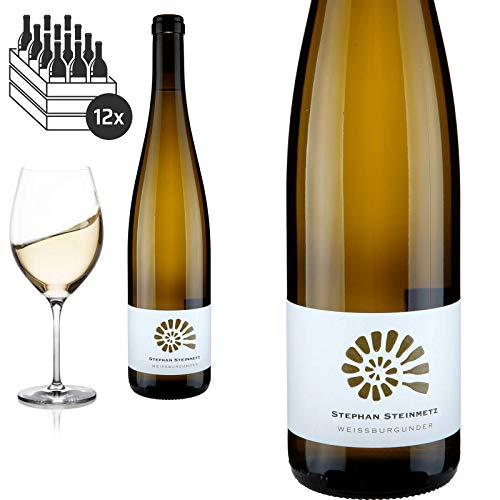 12er Karton 2018 Weißburgunder trocken von Weingut Stephan Steinmetz - Weißwein
