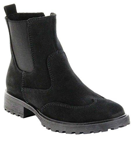 Richter Kinder Winter Stiefeletten Black Leder Mädchen Boots Schuhe 4842-621-9900 Lena, Farbe:schwarz, Größe:39
