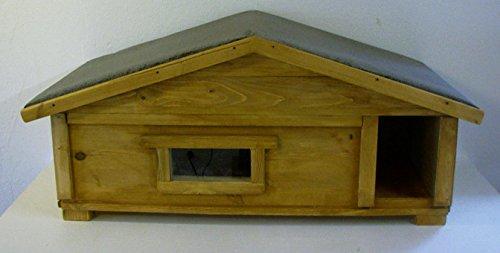 TTF Katzenhaus Kleintierhaus Outdoor mit Fenster und Windfang vollisoliert