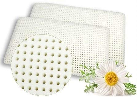 venixsoft Par de Almohadas viscoelástica para Cama en Espuma de momoria 70cm x 40cm x 12cm TRANSPIRACIÓN MÁXIMA Funda en algodón, Anti Cervical, Fabricado en Italia