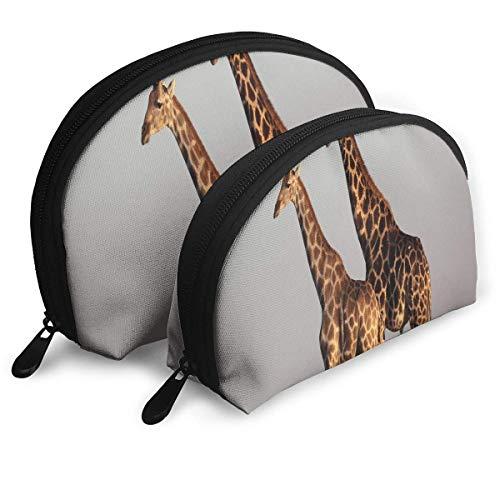 Schminktäschchen Zwei Giraffen Portable Shell Aufbewahrungstasche Für Mutter 2er Pack