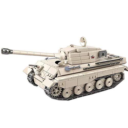 CYGG Kit de Modelo de Tanque, 978 PCS Ejército Tank Toy Puzzle para Construir para niños, niñas, niños y Adultos, Pequeño Bloque de Edificios Compatible Lego - Tiger King Tank