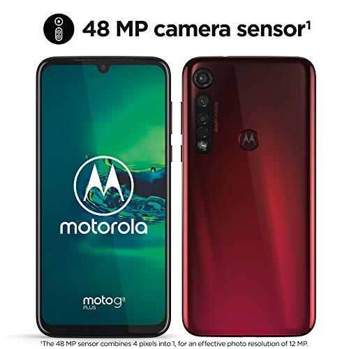 moto g8 plus Dual-SIM Smartphone (6,3 Zoll-Max vision-Display, 48-MP-Quad-Pixel-Triple-Kamera, 64 GB/4 GB, Android 9.0) Rot